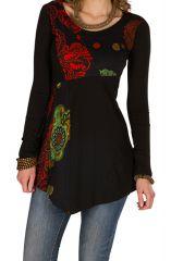 Tunique femme à manches longues Noire élégante et tendance Maona 299760
