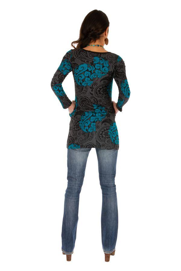 Tunique femme à manches longues tendance et originale Zaria 313365