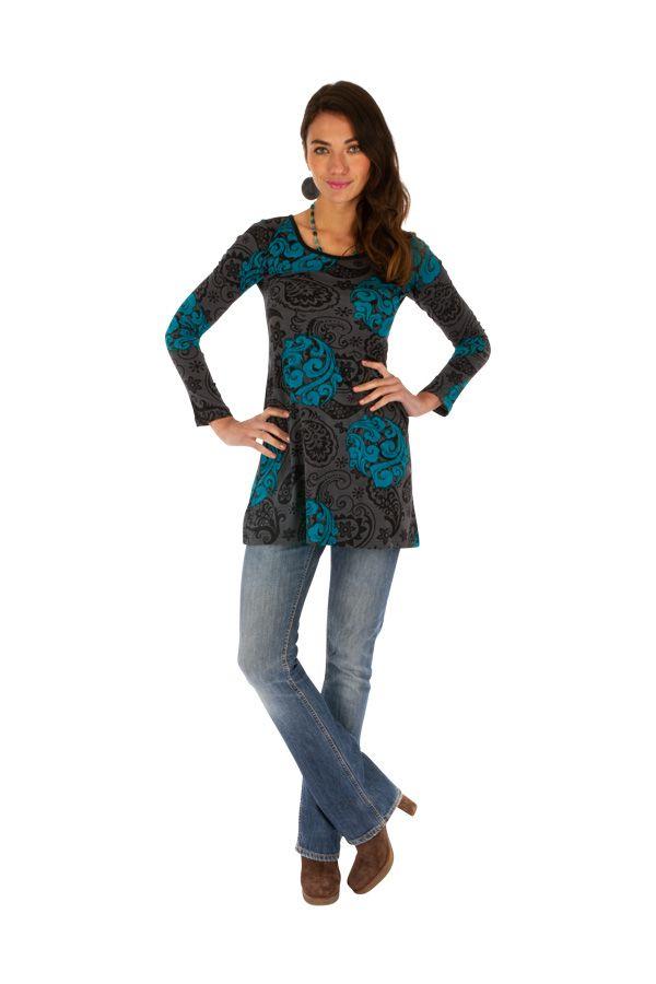 Tunique femme à manches longues tendance et originale Zaria 313367