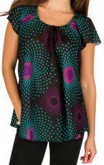 Tunique femme à pois en coton pour l' été Alexia 292191