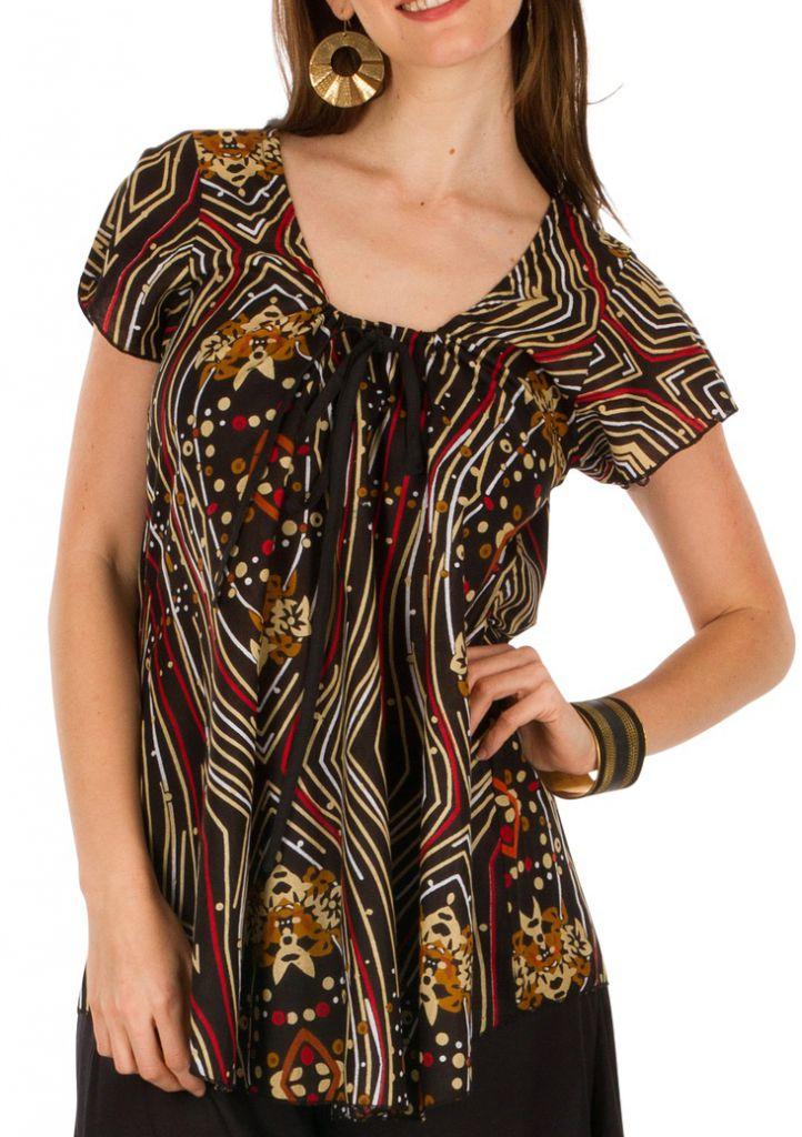 63a54abf8ff2 Tunique femme africaine en coton pour l  été Elina 292179. Loading zoom