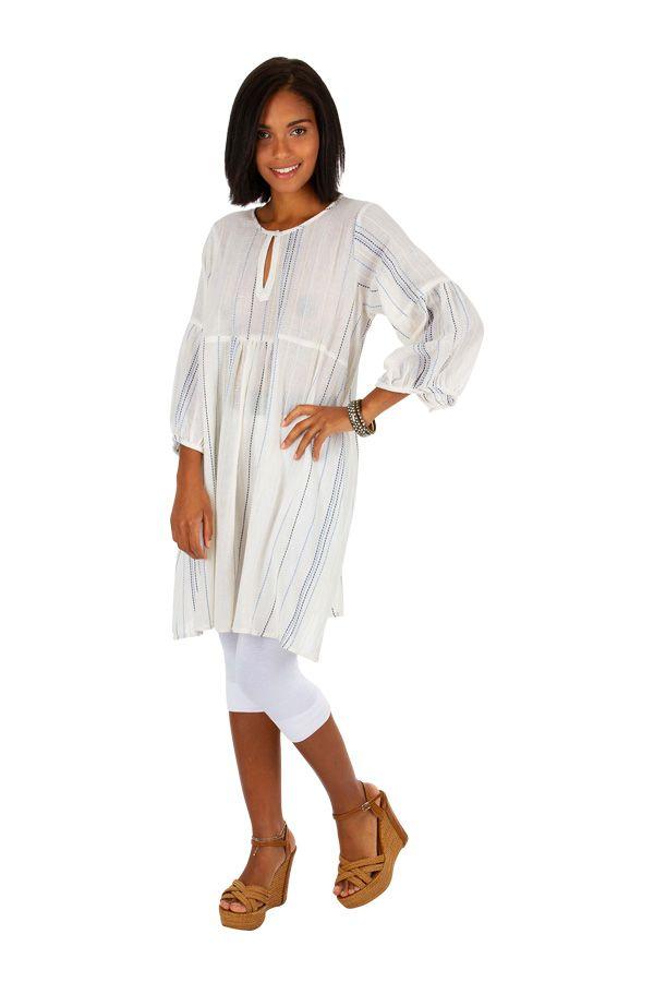 Tunique femme agréable et passe-partout blanche Elie 309911