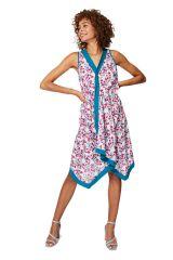 Tunique femme asymétrique en coton à imprimé fleurs bohème Lykke