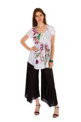 Tunique femme blanche en coton pour l' été Jennyfer 289556