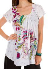 Tunique femme blanche en coton pour l' été Jennyfer 292215
