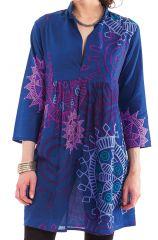 Tunique Femme Bleue d'été à manches 3/4 Colorée Bombay 281887