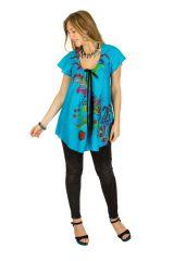Tunique femme bleue en coton pour l' été Jennyfer 289560