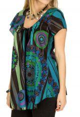 Tunique femme col rond en coton pour l' été Elina 292166