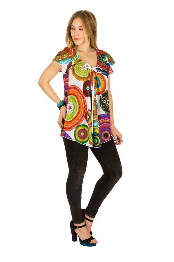 Tunique femme colorée en coton pour l' été Alexia 289576