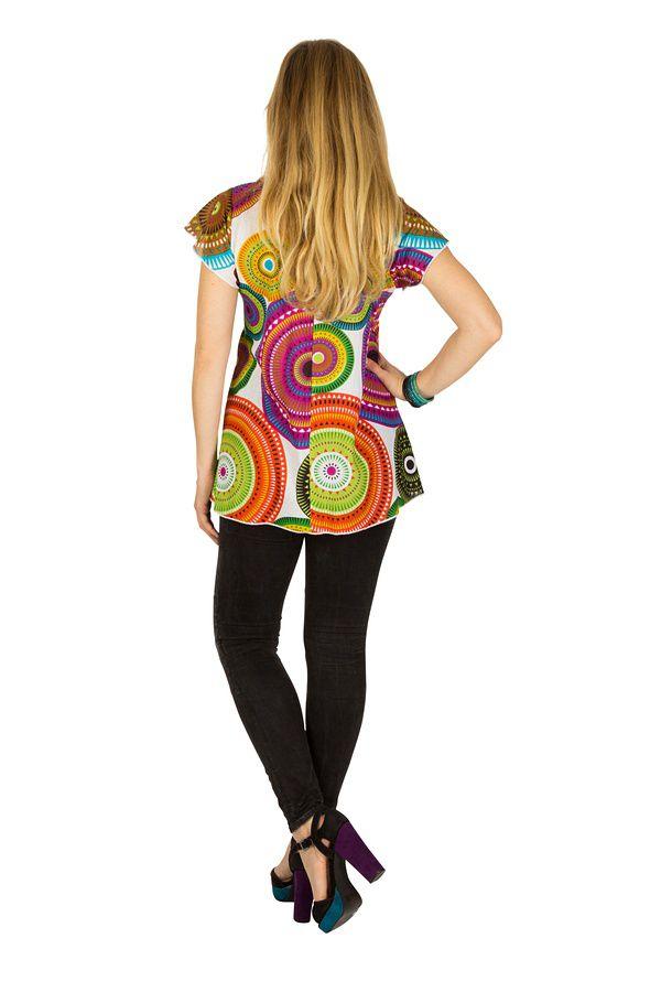 Tunique femme colorée en coton pour l' été Alexia 289577