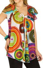 Tunique femme colorée en coton pour l' été Alexia 292197