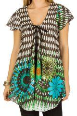 Tunique femme colorée en coton pour l' été Lucie 292230