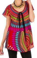 Tunique femme colorée en coton pour l'été Miranda 292274