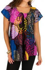Tunique femme colorée et originale en coton pour l' été Alexia 292196