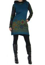 Tunique femme ethnique bleue najali 266401