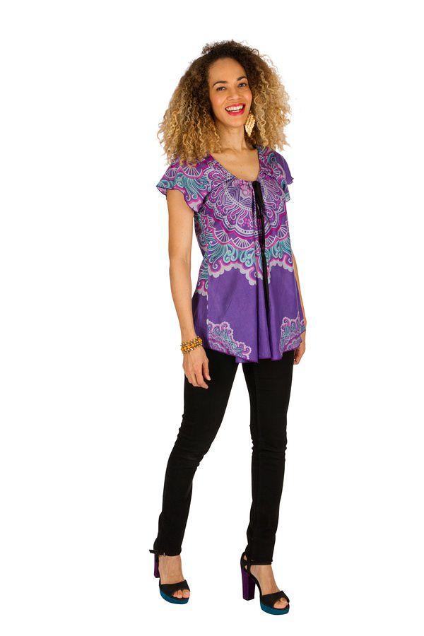 Tunique femme ethnique en coton pour l' été Camilia 289517