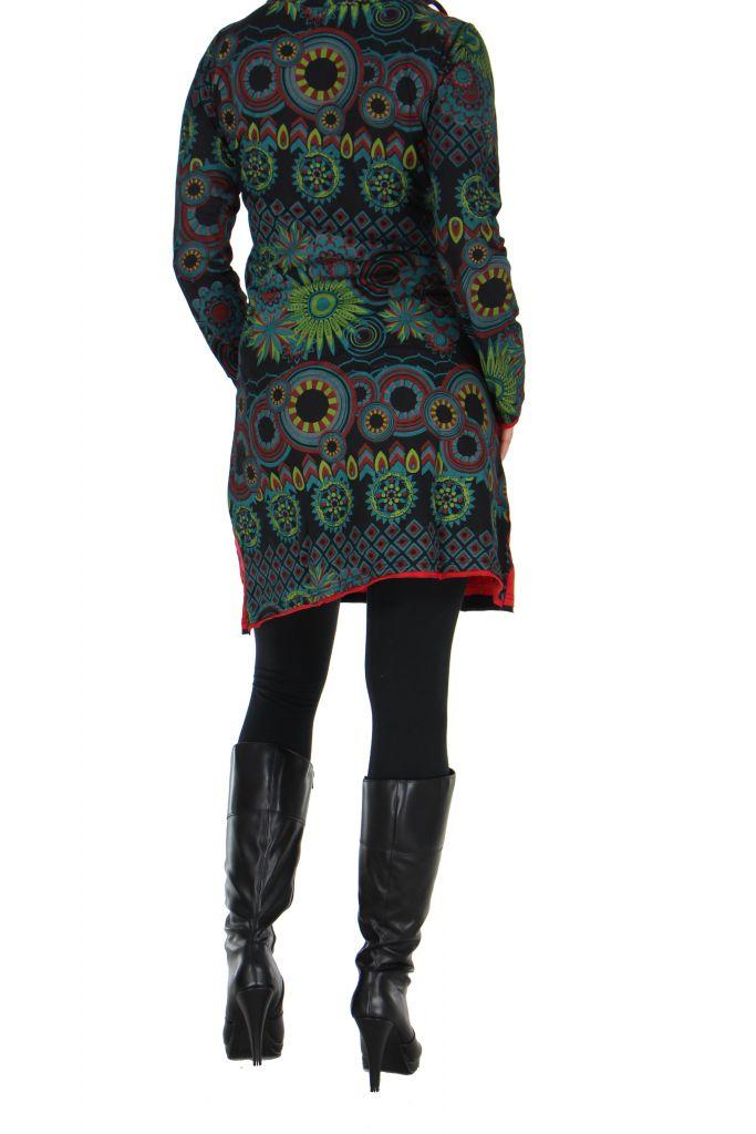 Tunique femme ethnique rouge najali 266396
