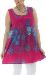 Tunique femme généreuse imprimés fantaisies  et colorés Lolly 295546