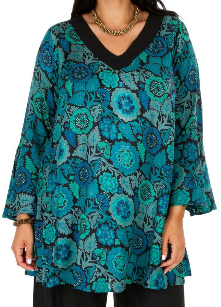 Tunique femme grande taille à manches longues originale Odelia