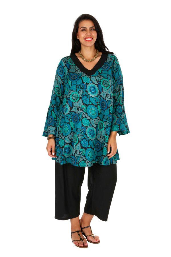 Tunique femme grande taille à manches longues originale Odelia 306370