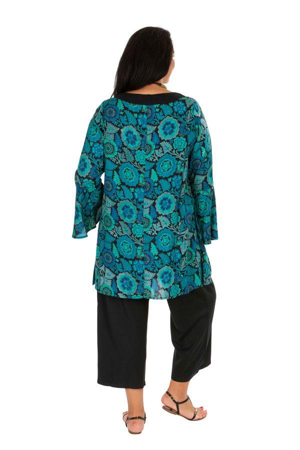 Tunique femme grande taille à manches longues originale Odelia 306371