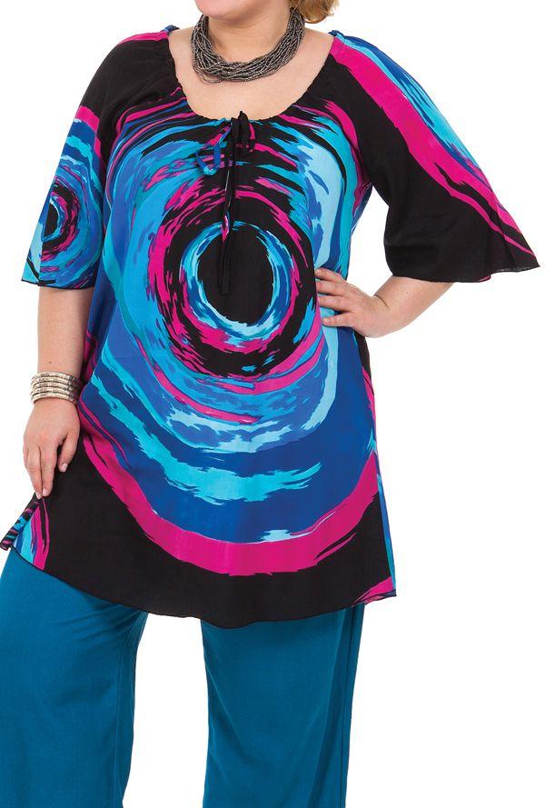 Tunique femme grande taille ample et légère Déborah 284645