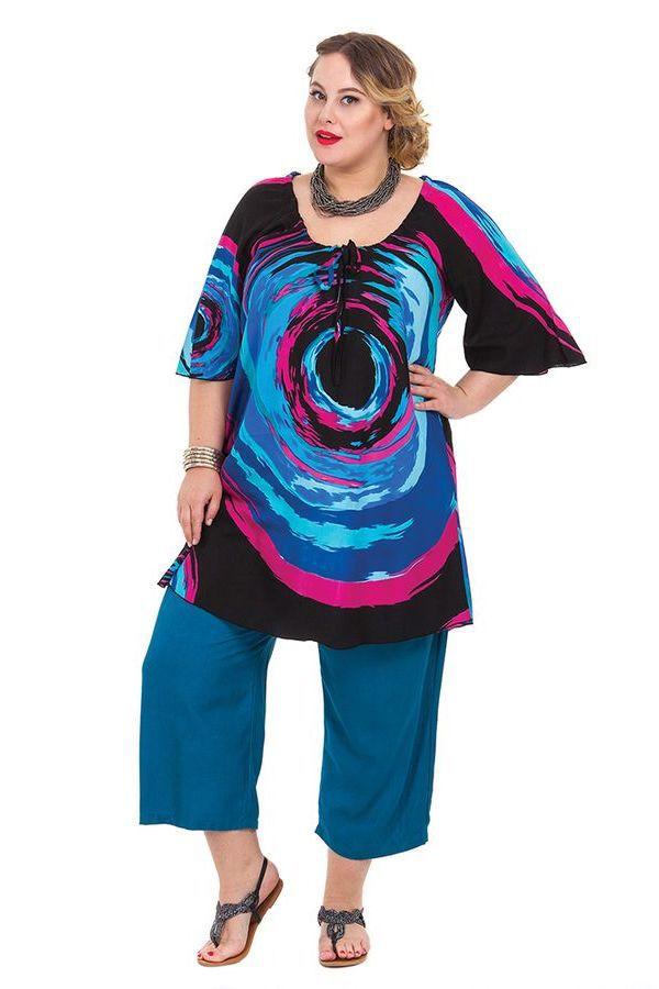 Tunique femme grande taille ample et légère Déborah 284646