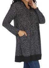 Tunique femme grande taille ample et originale Kanye grise 313603