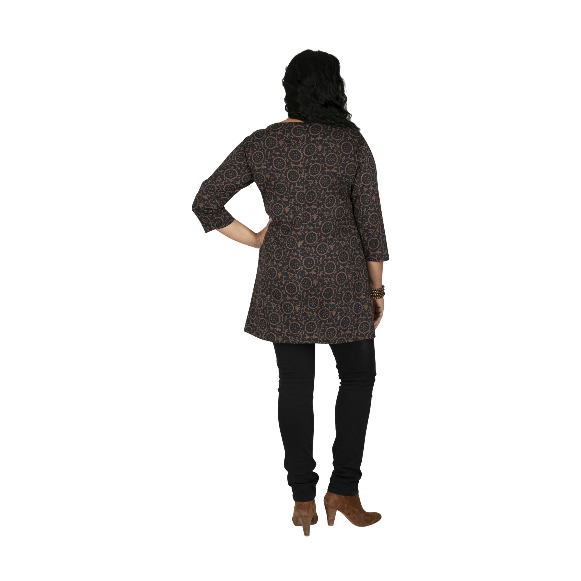 Tunique femme grande taille ample imprimée Bunumbu