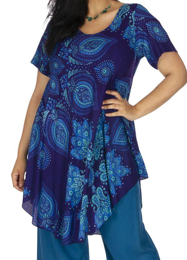 Tunique femme grande taille asymétrique pas chère Calbe
