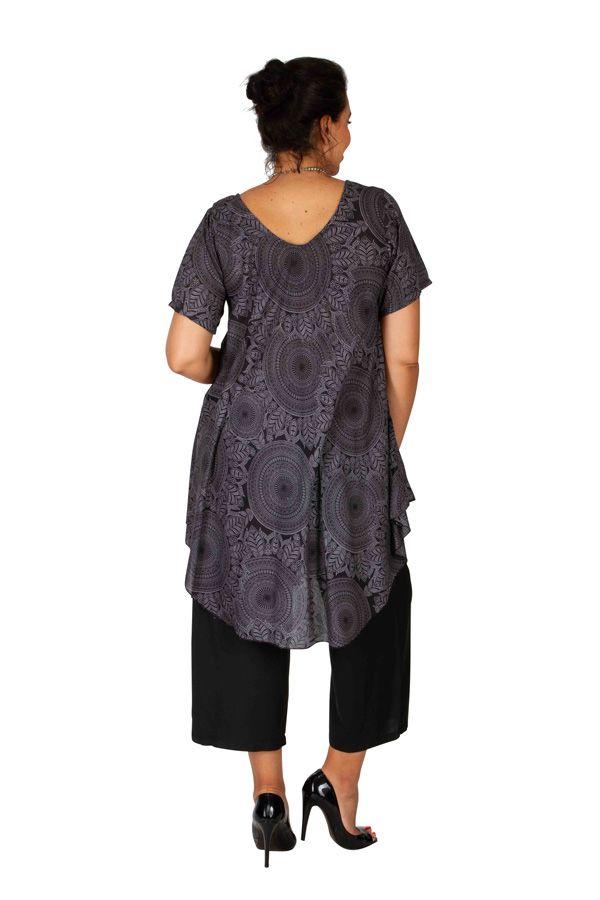 Tunique femme grande taille avec un imprimé de rosaces Rinah 306456