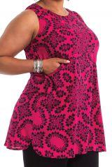 Tunique femme grande taille bohème sans manches Elisa 284712