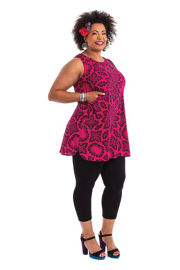 Tunique femme grande taille bohème sans manches Elisa 284713