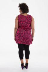 Tunique femme grande taille bohème sans manches Elisa 284714