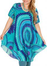 Tunique femme grande taille de plage bleu ciel Aelia 306448