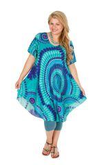Tunique femme grande taille de plage bleu ciel Aelia 306449