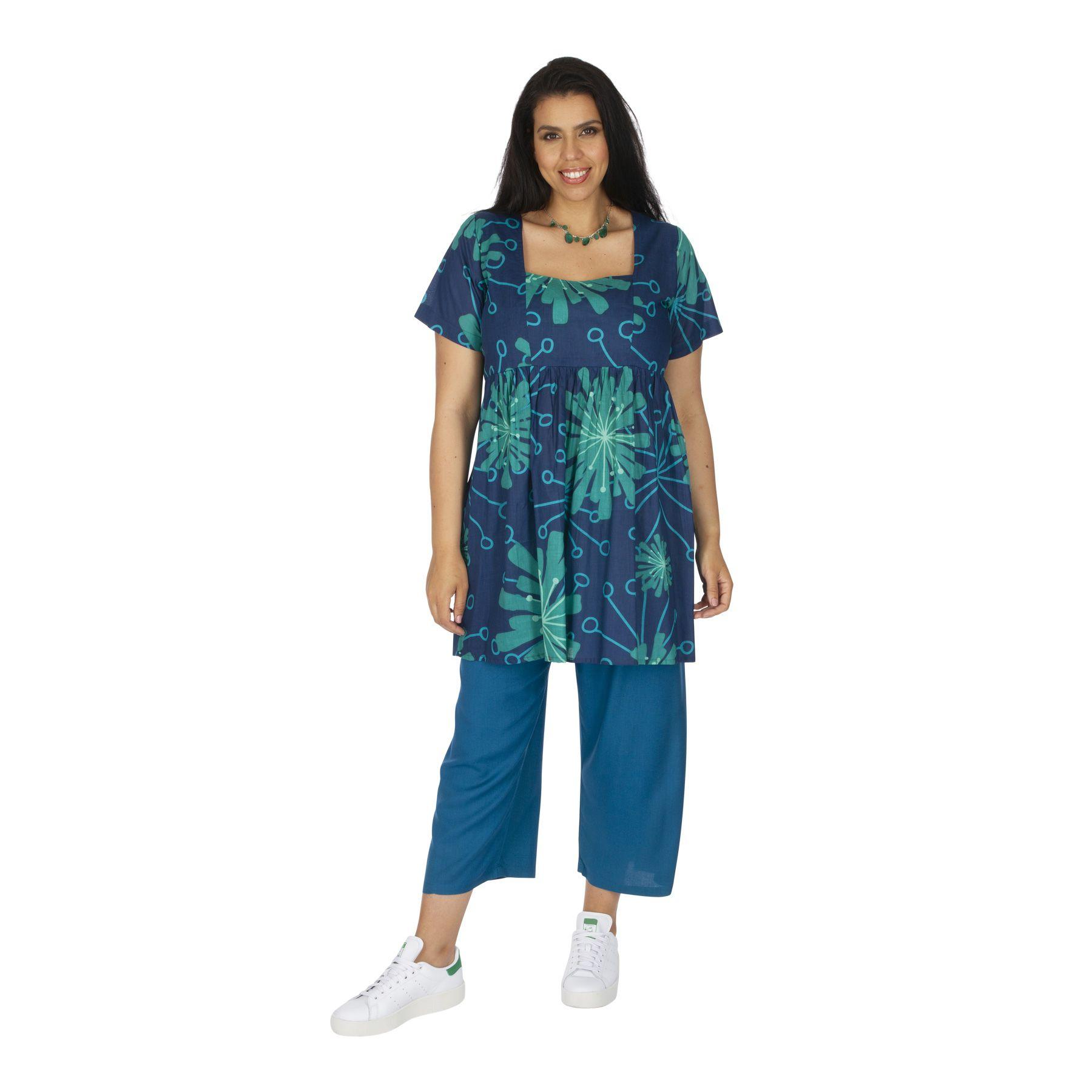 Tunique femme grande taille été originale et colorée Ransal