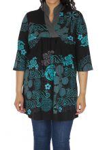 Tunique femme grande taille ethnique et imprimée Batna 313452