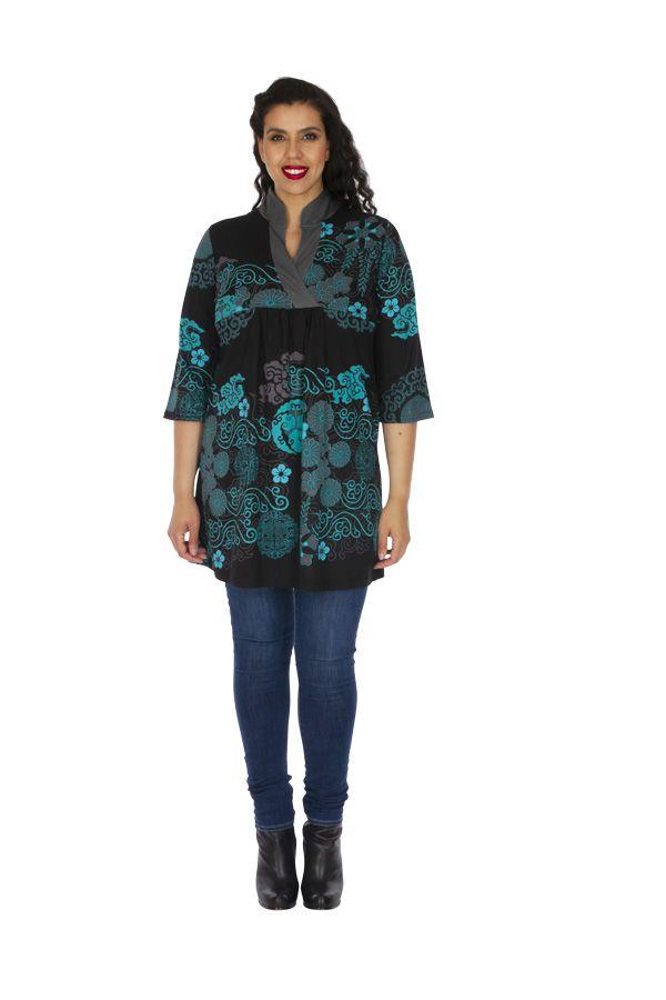 Tunique femme grande taille ethnique et imprimée Batna 313453