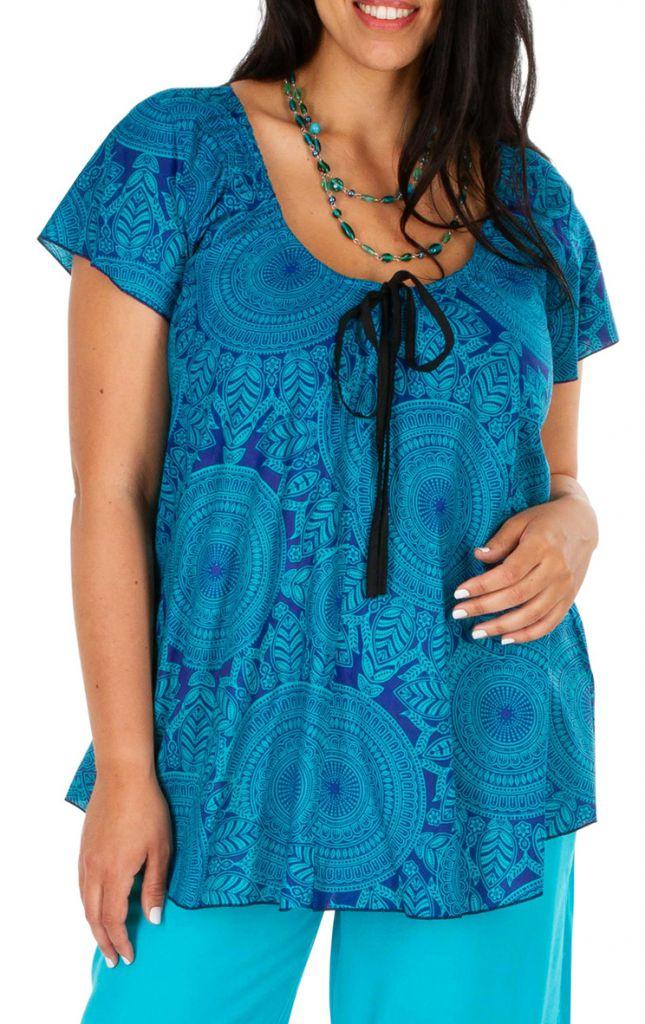 Tunique femme grande taille haut original et ethnique Adeline