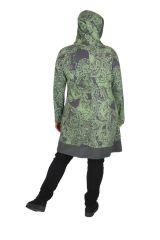 Tunique femme grande taille imprimée paisleys Kanye verte 313608