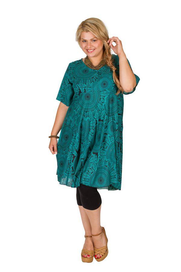 Tunique femme grande taille motif mandala fantaisie Laiyna