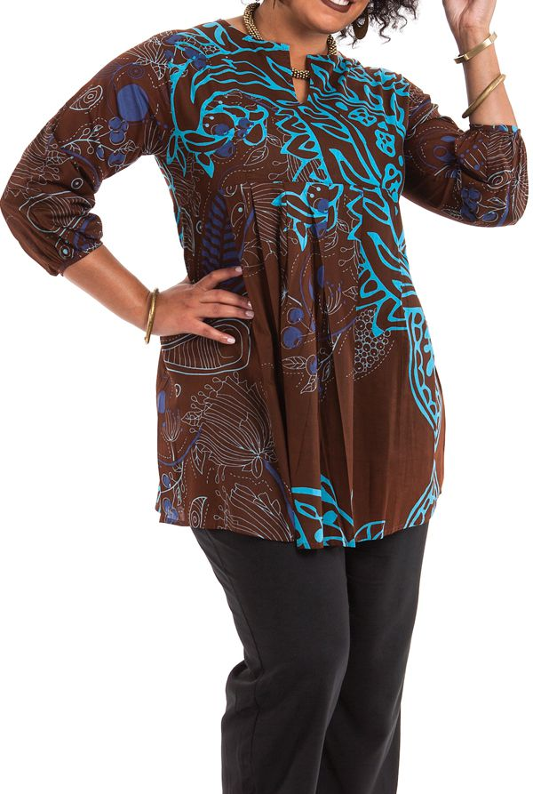 Tunique femme grande taille originale aux manches 3/4 Ella 284616