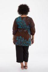 Tunique femme grande taille originale aux manches 3/4 Ella 284618