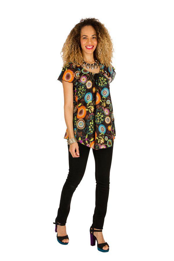 Tunique femme hippie en coton pour l' été Alexia 289597