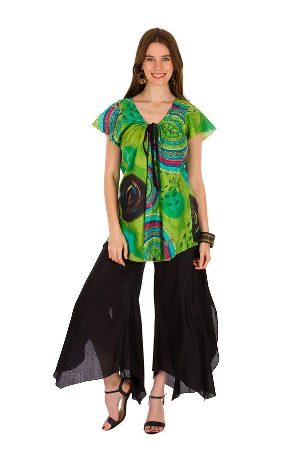 Tunique femme imprimée en coton pour l' été Lucie 289538