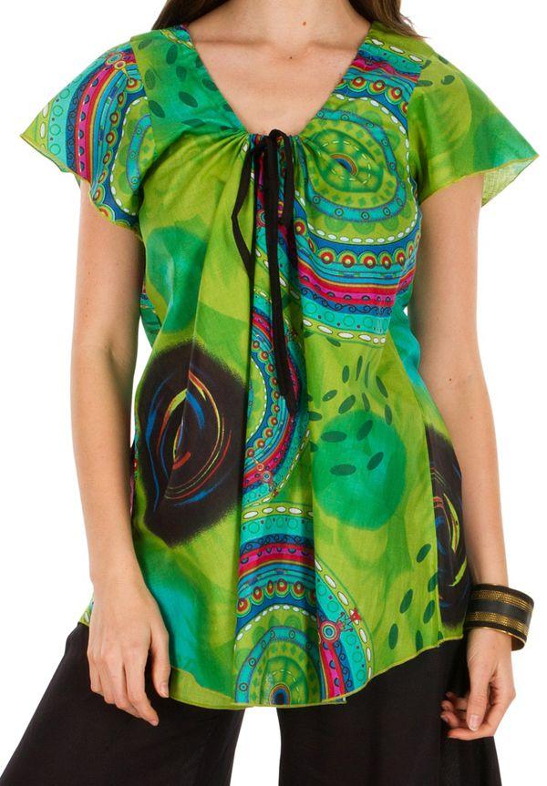Tunique femme imprimée en coton pour l' été Lucie 292221