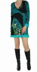 Tunique femme imprimée nubik bleue 248771