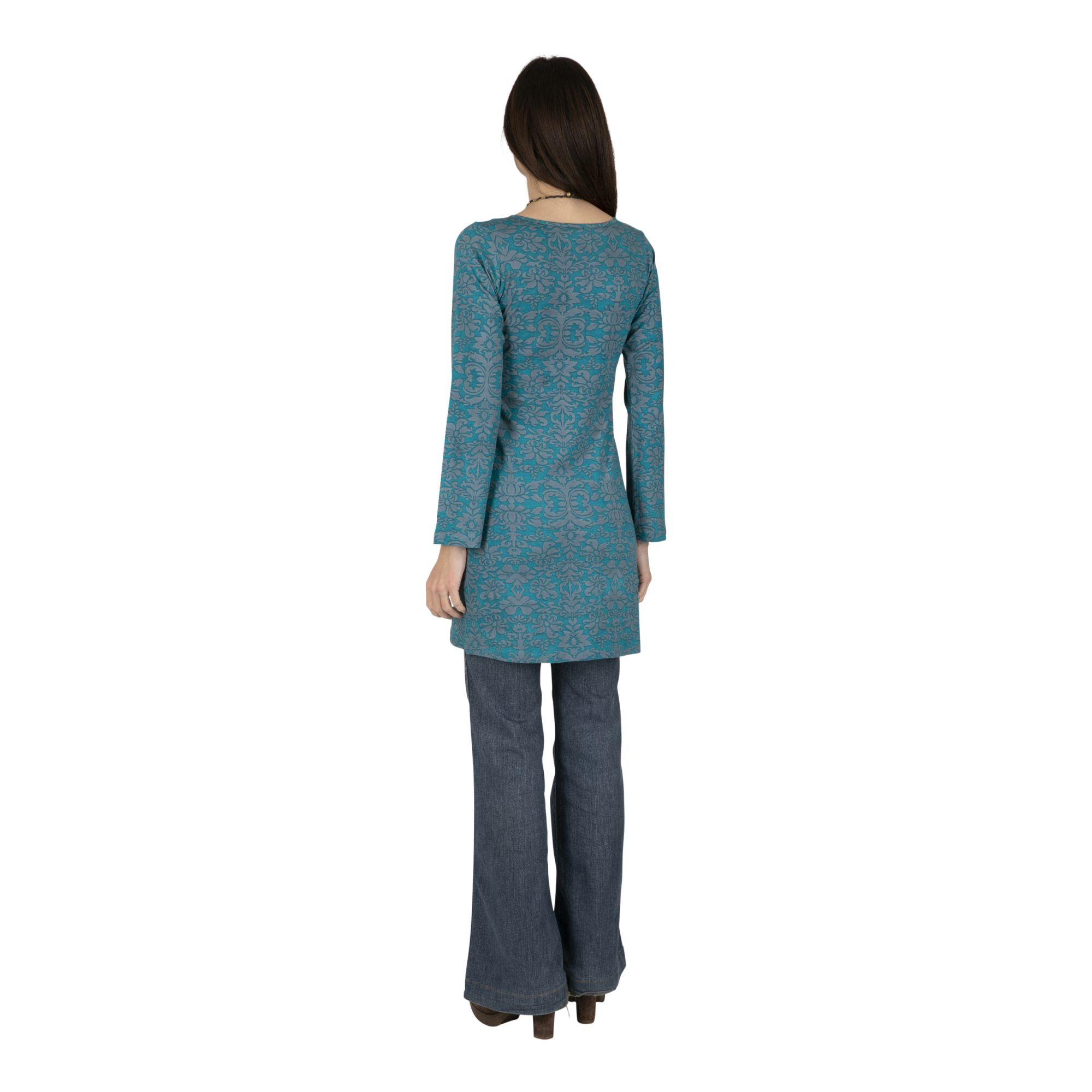 Tunique femme longue coton esprit bohème Hillaby