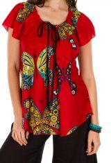 Tunique femme motif papillon en coton pour l' été Jennyfer 292214